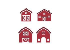 conjunto de modelos de design de ícone de celeiro vetor