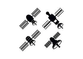 ilustração vetorial de modelo de design de ícone de satélite espacial vetor