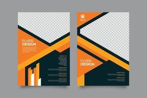 folheto de negócios moderno premium com design abstrato vetor
