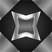 fundo de metal estrela brilhante vetor