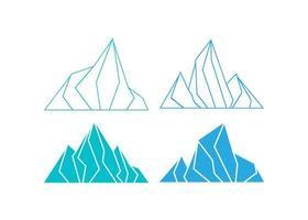 ilustração em vetor modelo de design de ícone de montanha de gelo