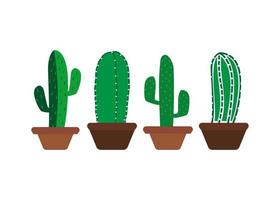 conjunto de modelo de design de ícone de cacto