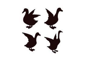 conjunto de design de ícone de pato