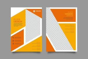 negócios corporativos modernos a4 flyer pôster modelo brochura capa design vetor