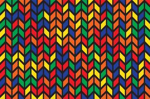 padrão em ziguezague colorido vetor