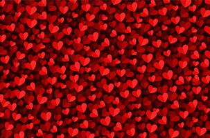 fundo de corações vermelhos do dia dos namorados vetor