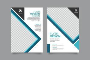 folheto de modelo moderno ou empresa de propriedade de folheto vetor