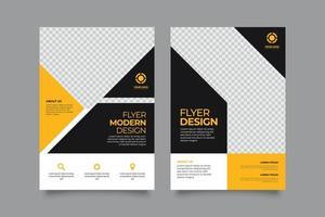 modelo de negócios de design de folheto de dois esquemas vetor