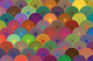 padrão de círculo colorido vetor