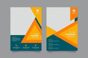 modelo de folheto de negócios elegante com cores brilhantes vetor