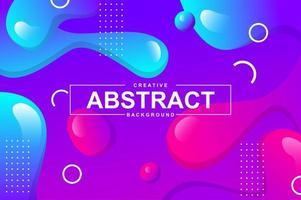 projeto abstrato com formas líquidas dinâmicas. vetor