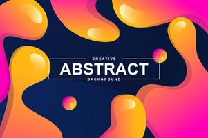 projeto abstrato com formas líquidas dinâmicas.