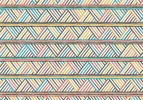 padrão de listras tribais coloridas vetor