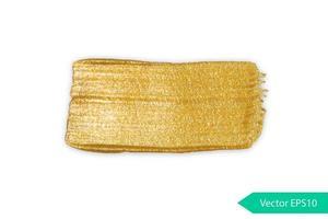 mancha dourada de pincelada acrílica vetor