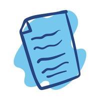 ícone de estilo de linha de folha de papel vetor