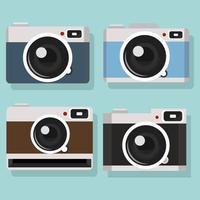 conjunto de design de coleção de câmeras vetor