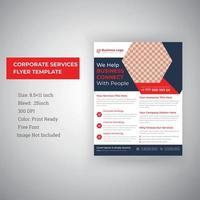 modelo de design de folheto de serviços empresariais corporativos vetor
