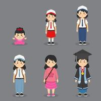 conjunto de níveis de educação vetor