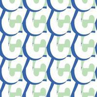 padrão de fundo de textura sem emenda do vetor. mão desenhada, cores azuis, verdes e brancas.