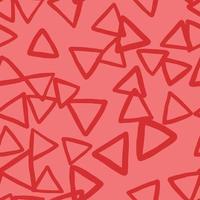 padrão de fundo de textura sem emenda do vetor. desenhados à mão, cores vermelhas.