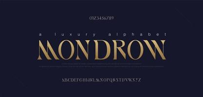 elegante conjunto de fontes de letras do alfabeto vetor