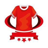 camisa de futebol americano com fita e estrelas vetor