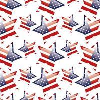 fundo das bandeiras dos estados unidos em forma de estrelas vetor