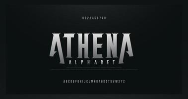 fontes do alfabeto moderno com serifa rock vetor