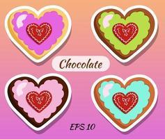 chocolates em forma de coração.