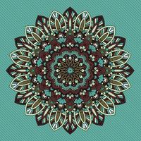 Design de mandala com estilo retrô decorativo vetor