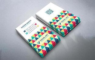 cartão de visita vertical colorido vetor