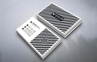 cartão de visita preto e branco vetor