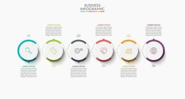 modelo de conexão de círculo infográfico moderno vetor