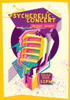 Poster de concertos psicodélicos vetor
