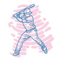 Jogador de beisebol abstrato vetor