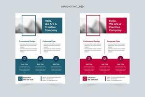 business design business modelo de folheto a4 vetor