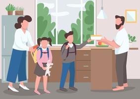 ilustração em vetor cor lisa paternidade
