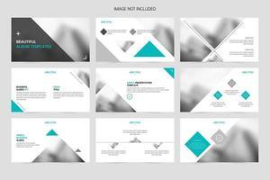 slides de apresentação de promoção de negócios geométricos criativos vetor