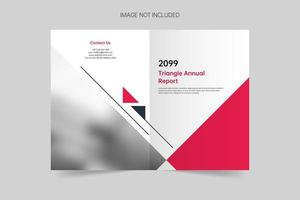 modelo de vetor de capa de brochura simples