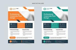 pôster de negócios modelo de capa de folheto a4 vetor