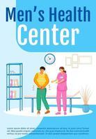 modelo de vetor plano pôster centro de saúde masculina