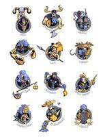 conjunto de ilustrações vetoriais planas de doze signos do zodíaco vetor