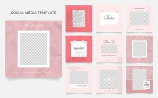 scial media template banner blog promoção de venda de moda