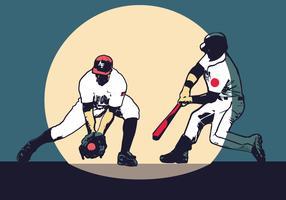 Design de vetores do jogador de beisebol