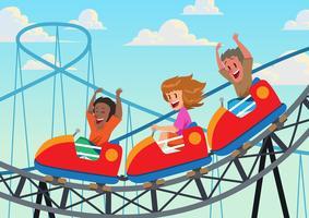 Ride Roller coaster vetor