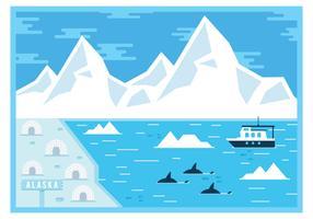 Cartão do Alasca vetor