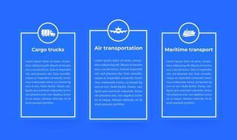 infográficos da indústria de transporte, transporte aéreo e marítimo, caminhões de carga