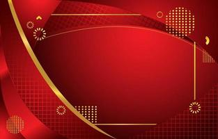 fundo vermelho com combinação de cores douradas vetor