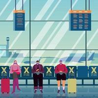 novo normal no aeroporto vetor