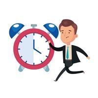 despertador com ícone isolado empresário vetor